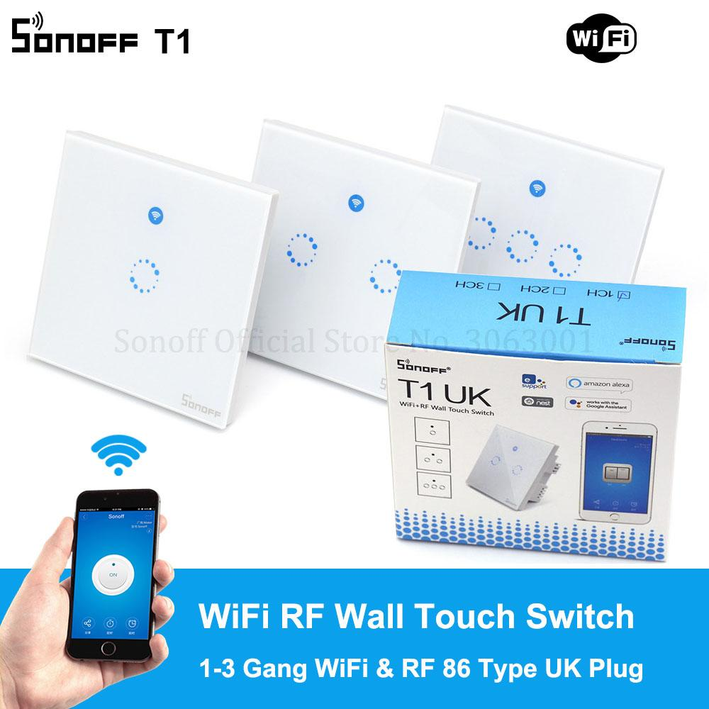 sonoff t1 uk plug 86 type smart wall touch light switch toughened rh dhgate com