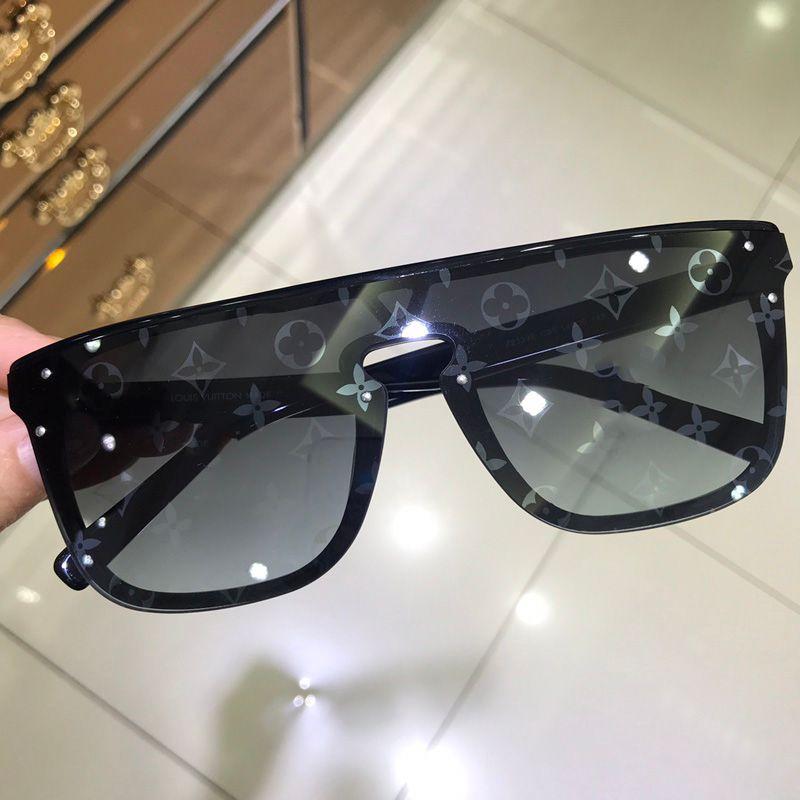 70597b845 Compre LOUIS VUITTON Flat Top Nuevas Gafas De Sol De Lujo Cuadradas  Integradas De La Marca Señoras Del Diseñador Gafas De Gran Tamaño Gafas De  Sol De Los ...
