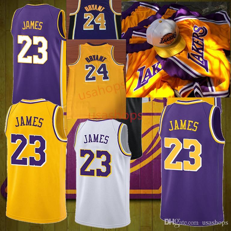3d8b04e1549 Men s Kids 24 Kobe Bryant 23 LeBron James Black Gold 2 Lonzo Ball 0 ...