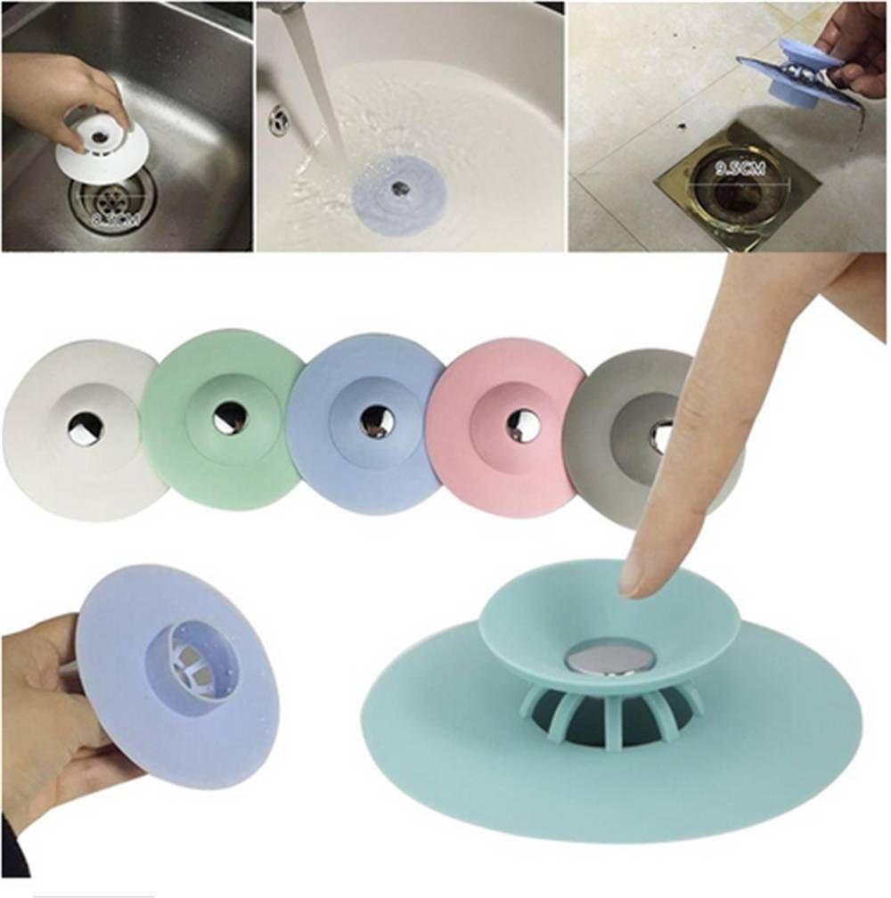 Potable Drain Stop Kitchen Sink Stopper Drain Plug Floor Drain Hair ...