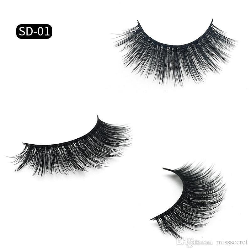 Cils 3D en vison maquillage pour les yeux Mink faux cils doux naturel épais faux cils Cils en 3D extension des cils beauté outils 17 styles DHL gratuit