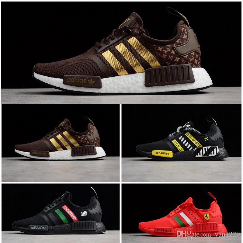 d7a65b41337f6 NMD R1 Sneakers Men Undefeated Primeknit PK Running Shoes Men Brown ...