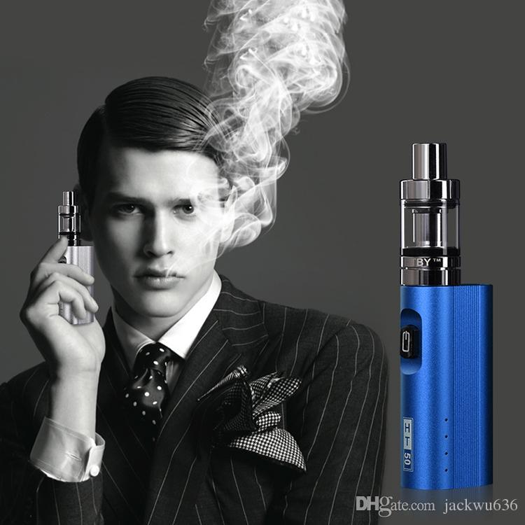2017 новый электронная сигарета HT 50 Вт коробка Mod kit Vape pen 2200 мАч 50 Вт E-сигареты комплекты 3 мл мини-распылитель бак испаритель пара E сигареты