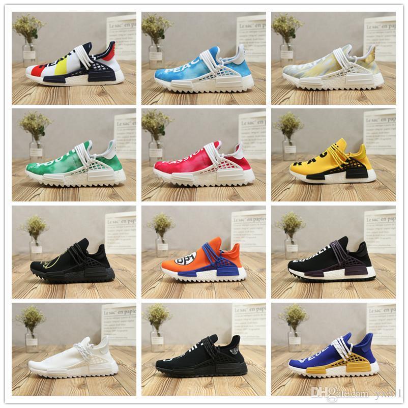 1ac90b1f3617d8 2018 New Human Race Pharrell Williams Runner Pk Sean Wotherspoon Running  Shoes Men Women PW X CC HU Fashion Casual Sports Sneakers EUR 36 45 Men  Sports ...