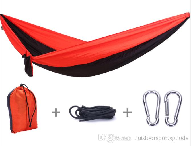 New camping gear bag steady and safenylon hammock High quality sleeping bed outdoor relaxation tool
