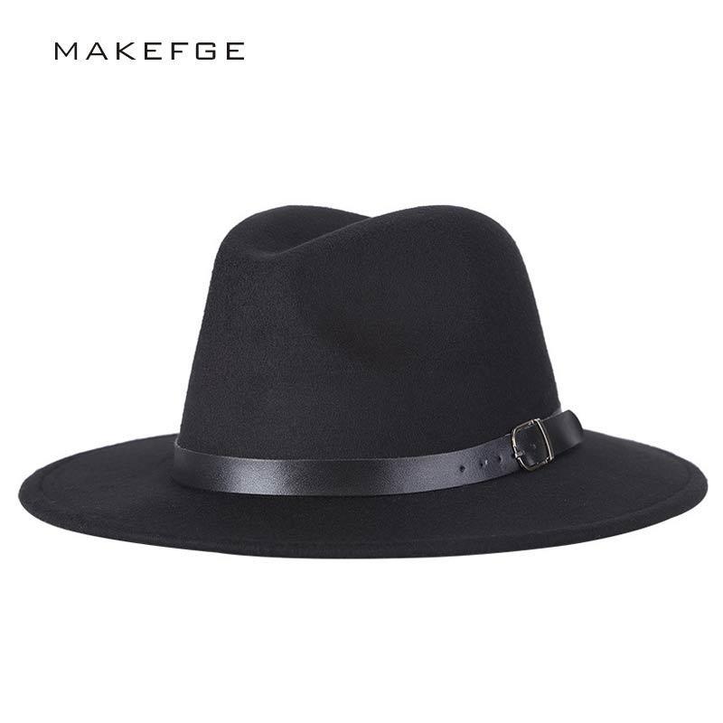 Compre Chapeu Feutre Design Chapeu Feminino Fedora Hat Para Laday Wide Brim  Sombreros Cap Jazz Panamá Chapéu Fedora Top De Splendone 54fa9ad832a