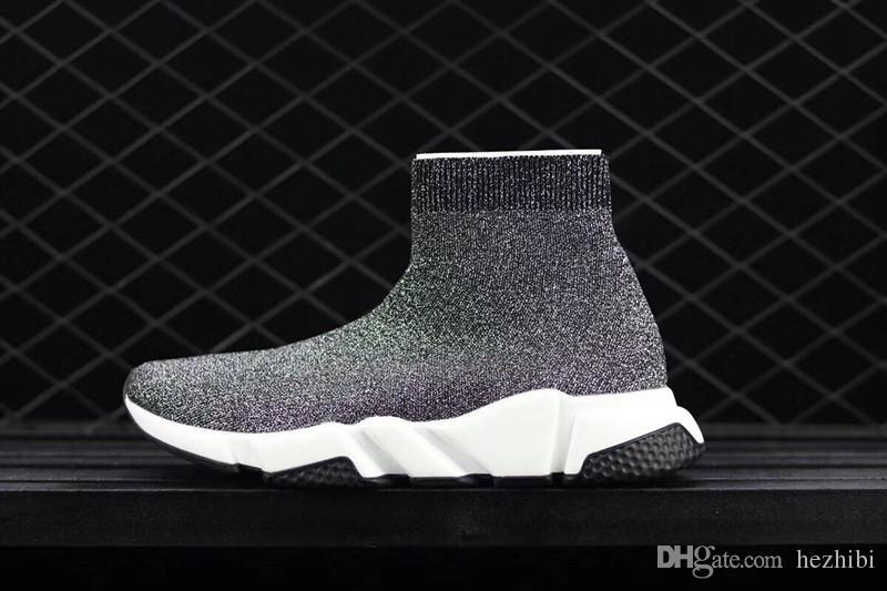2018 piyasadaki en yüksek kalite! High-end lüks marka Hız streç örme Orta sneakers Yardım Örme çorap ayakkabı Size36-45