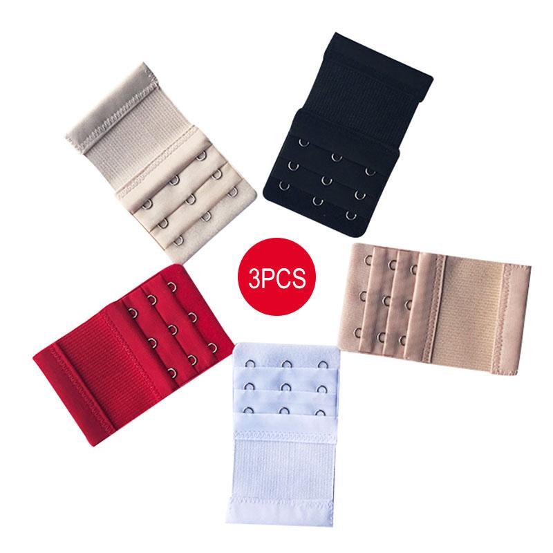 9c7e38bf93e1 Compre 3 UNIDS Sujetadores Extensores Sujetador Correa Extensión Extensor  De Correa Accesorios Ajustable 3 Ganchos 3 Filas Lady Underwear Belt Adding  A ...
