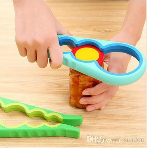 New 4 in 1 Bottle Opener Can Opener Screw Cap Jar Wrench Creative Multifunction Gourd Shaped Kitchen Tools