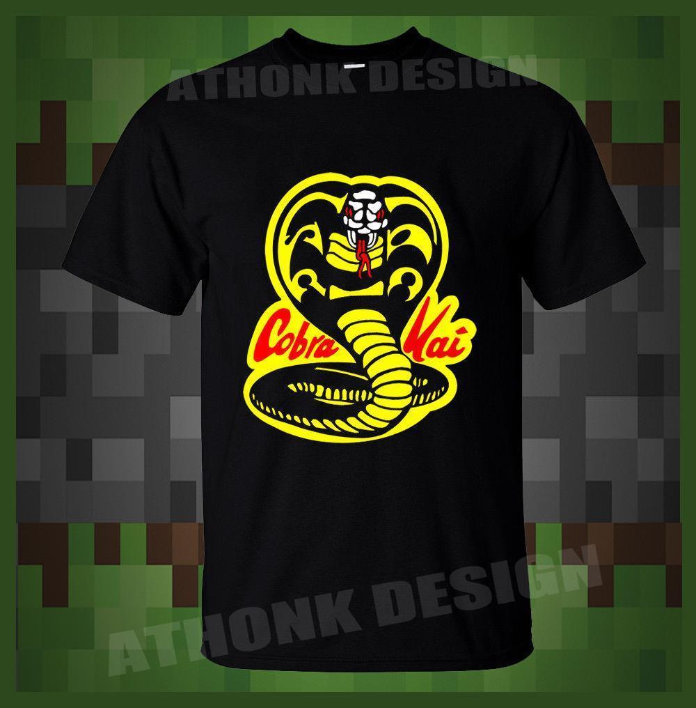 Shirt Cobra Kai Mens Funny Karate Kid T Retro Design Tee Shirts From Amesion23 12 08 Dhgate Com