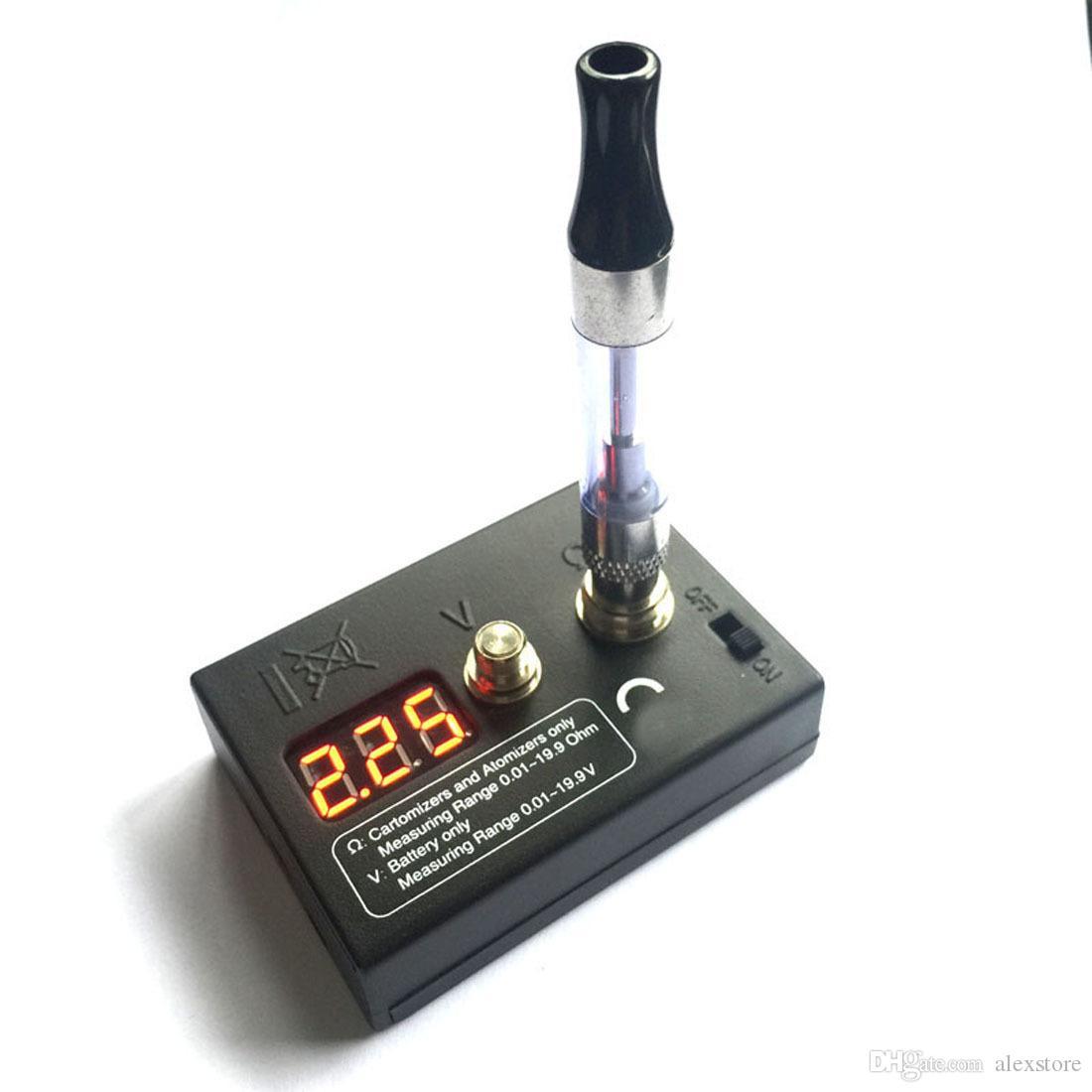 Ohm metre direnci test cihazı dijital test makinesi için siyah mikro okuyucu atomizer tankı EGO 510 808D M7 M8 konu pil voltaj vape DHL