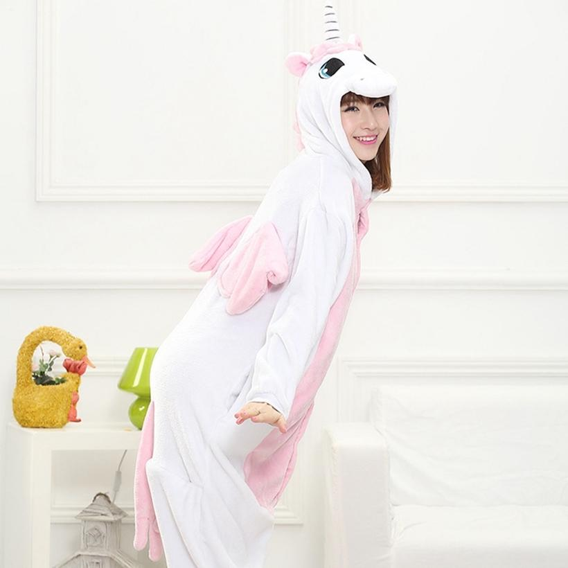ce090eff579f Unicorn Pink Blue Cartoon Design Animal Cosplay Pajamas Kid Boy ...