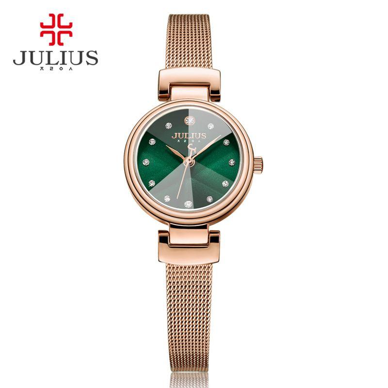 307280b5d6f8 Compre Julius Caro Reloj De Pulsera De Cuarzo De Las Mujeres De Whatch  Señoras 2017 Nuevo Reloj Directo De Fábrica De Diseño De Corea Dropshipping  JA 1020 A ...