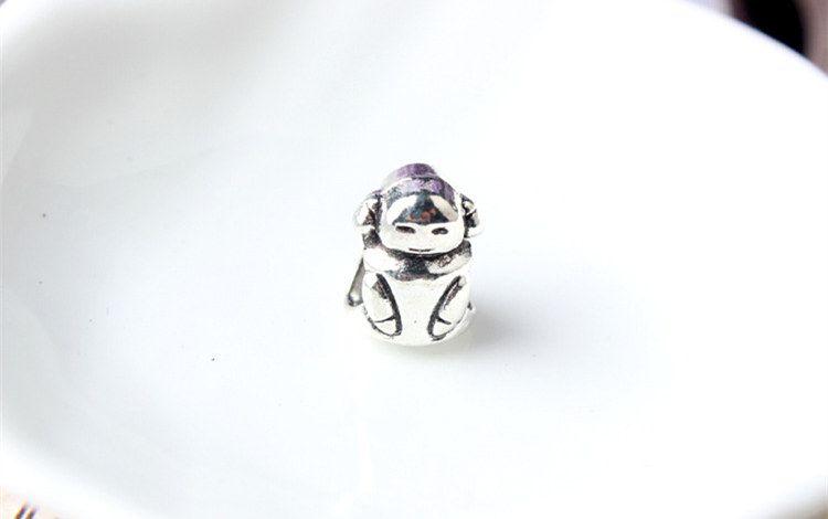 Cute Girl Lovely Alloy Charm Bead Fashion Women Jewelry Stunning Design European Style For Pandora Bracelet