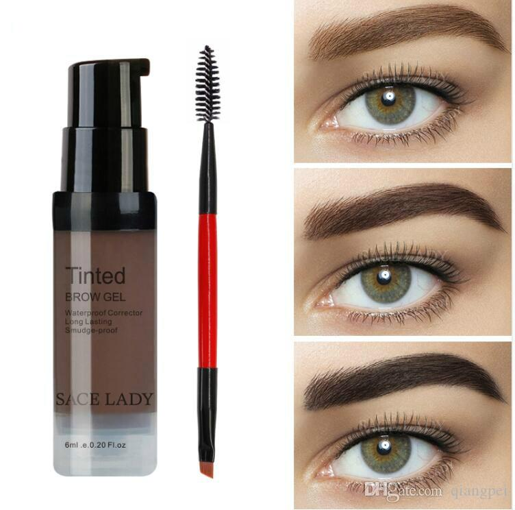 Color Salon Eyebrow Pomade 6ml Makeup Tint Brush Kit Brown Henna Eye Brow Gel Cream Make Up Paint Pen Set Enhancer Wax Cosmetic