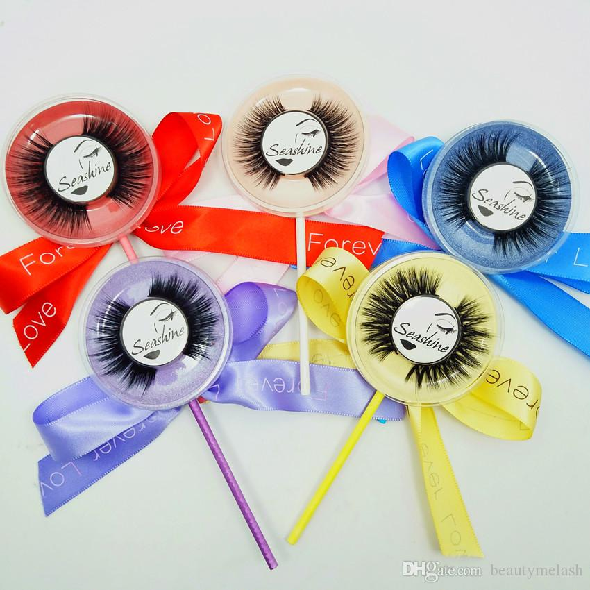 Lollipop Full Strip Beauty Pestañas falsas Extensiones de Samantha Pestañas hechas a mano Pestañas de visón 3D para pestañas de ojos Belleza Priivate Logo