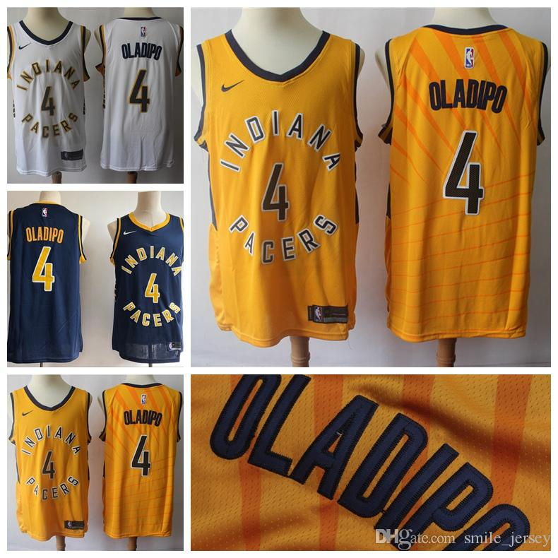 cc2580907 2019 New Mens 4 Victor Oladipo Indiana Jersey Pacers Basketball ...