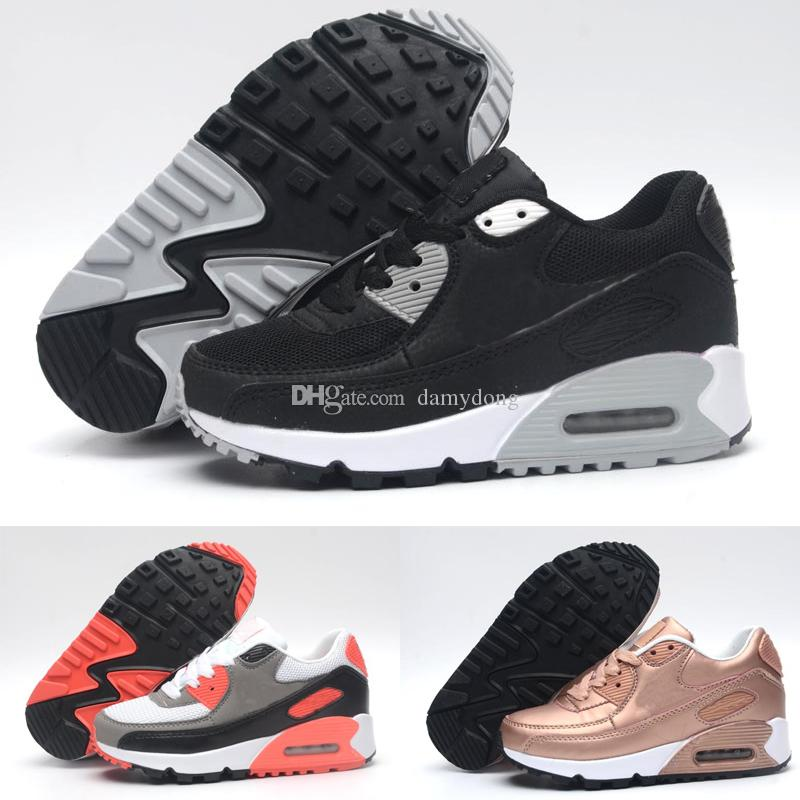 sports shoes 516d6 8df6a Compre Nike Air Max 90 Nuevos Zapatos Para Niños 90 Zapatillas Deportivas  Atléticas Para Caminar Para Niños, Niñas Moda, Zapatos Casuales, Zapatos  Para ...