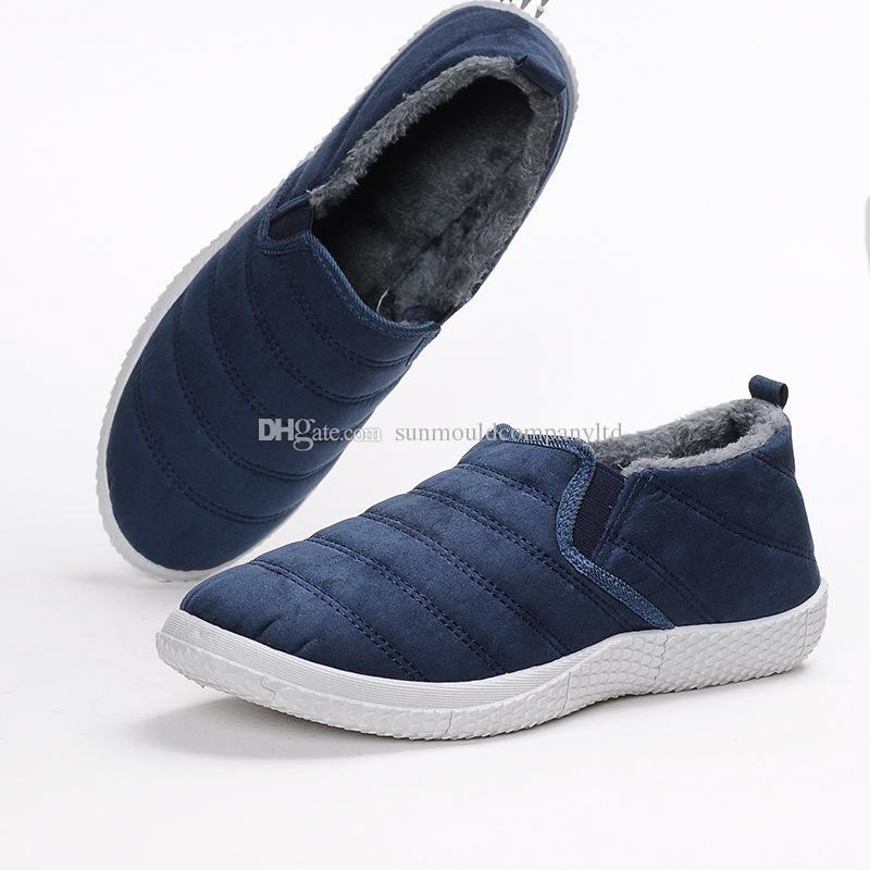 a04f312d14db5 Acquista Inverno Unisex Peluche Uomo Pantofole In Pile Caldo Pelliccia  Addensare Antiscivolo Scarpe Imbottite In Cotone Moda Uomo Pantofole Scarpe  ...