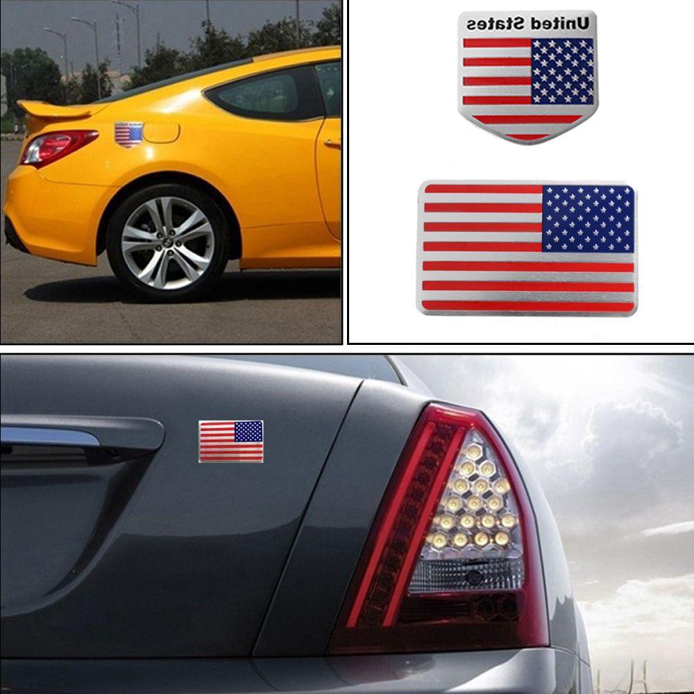 US American Flag 3D Car Sticker Auto Decor Decal Badge Emblem Car Styling sticker For Jeep Bmw Fiat VW Ford Audi Honda Toyota