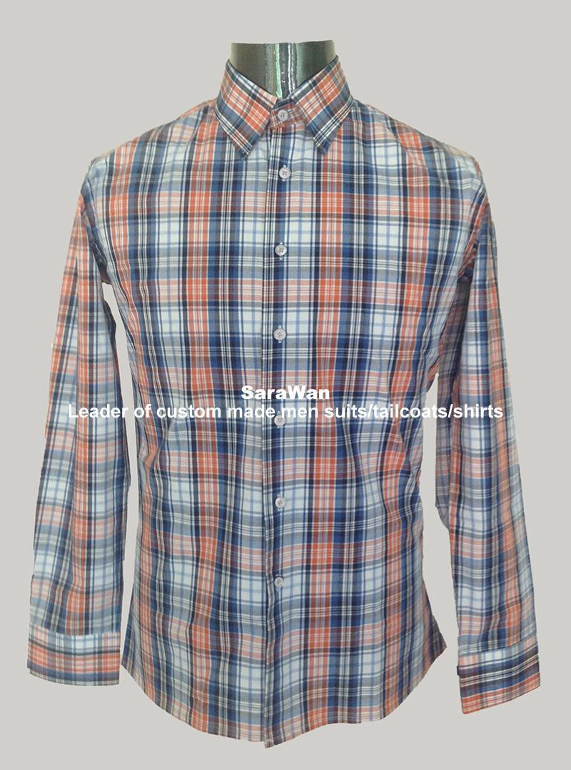 Checkered Shirt Men's Casual Dress