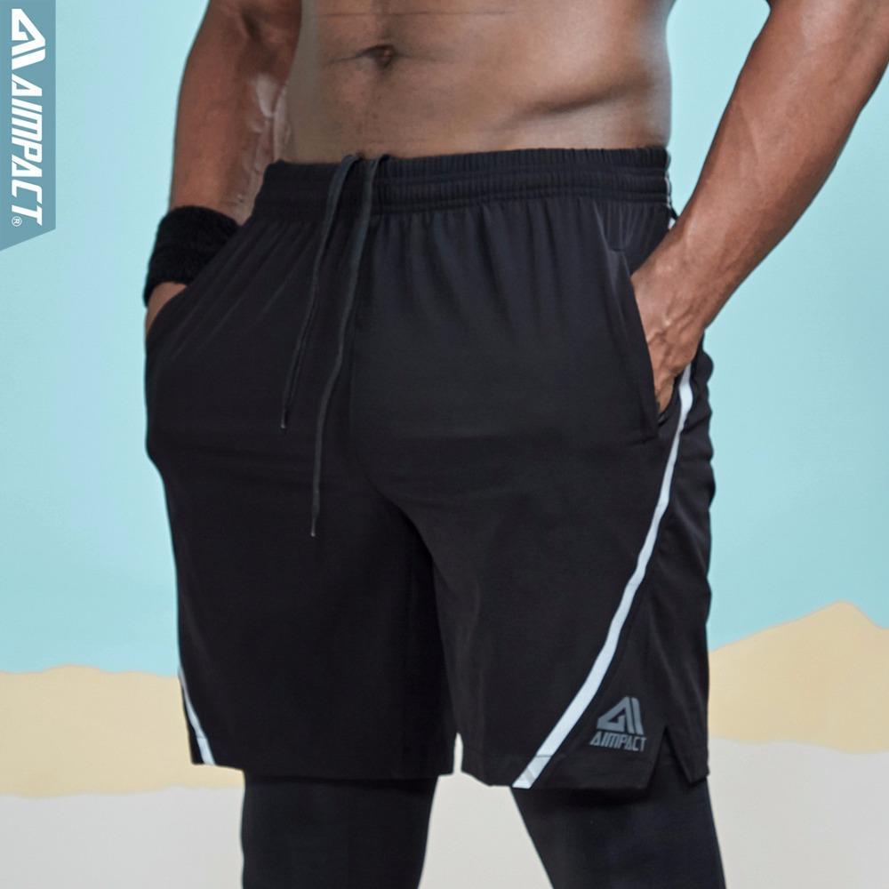 Acheter AIMPACT Sportif Shorts Pour Hommes Taille Élastique Running Gym  Formation Entraînement Séance D entraînement En Plein Air Biker Casual  Hybird Shorts ... 3d23fa5b7eb