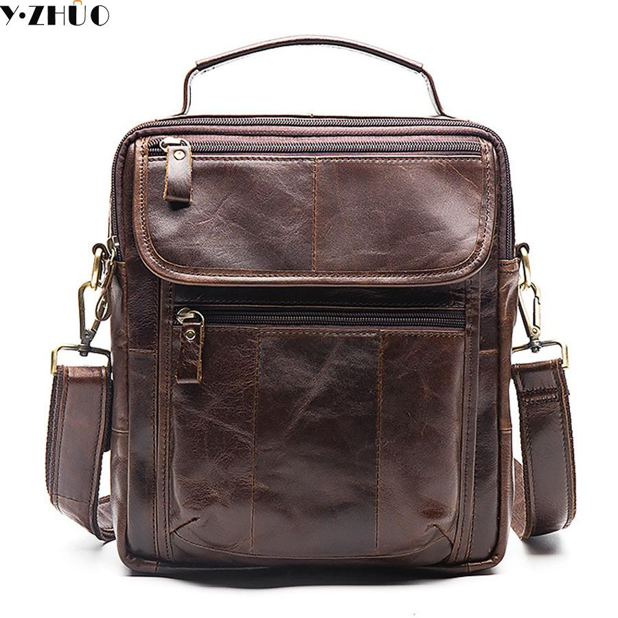 85f5aa0d259f Cowhide Man Bag Genuine Leather Man Shoulder Bags Designer Vintage Men  Messenger Bag Briefcase Male Crossbody Laptop Messenger Bags Satchel From  Diyplant