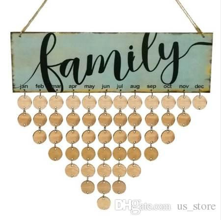 2018 wood family birthday reminder calendar diy wall hanging special