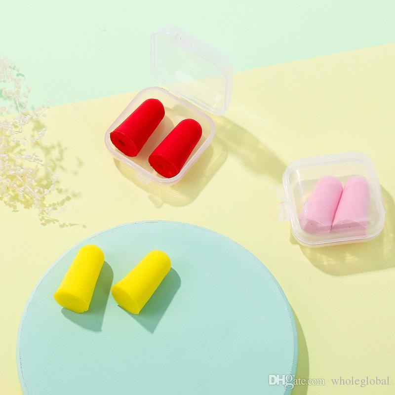 / suave espuma Mini tapones para los oídos de aislamiento de sonido de la protección auditiva Tapones para los oídos Tapones para dormir Reducción de ruido con Box anti-ruido