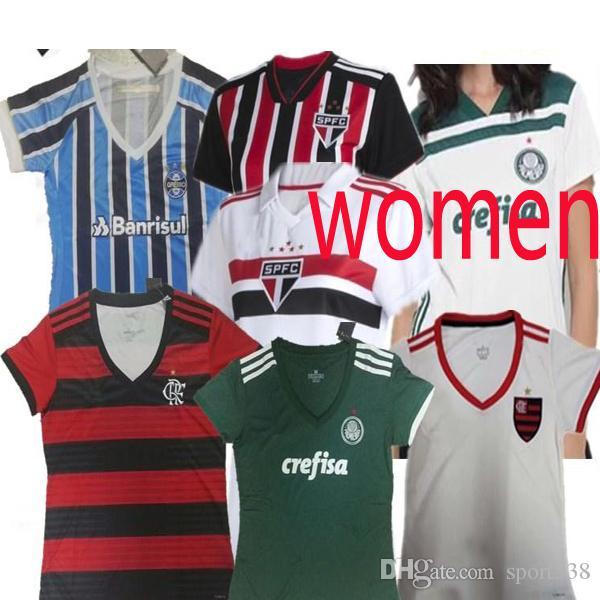 83c764831599a 2018 2019 Gremio Ropa De Fútbol Para Mujer En Casa 18 19 Camiseta De Fútbol  Femenina Palmeiras 2019 Equipo De Fútbol Femenino De Sao Paulo Flamengo Por  ...
