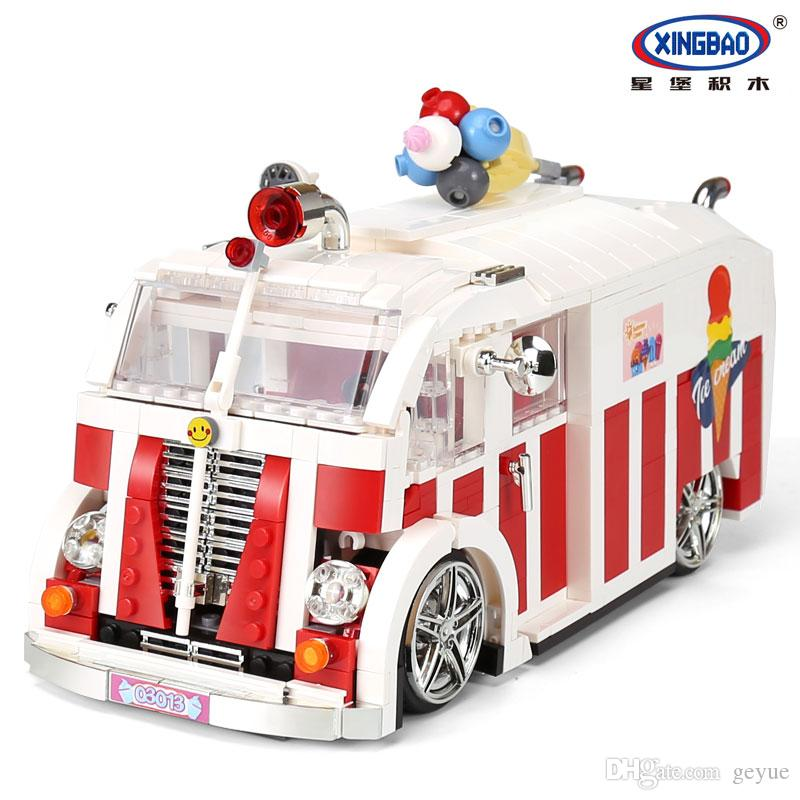 XINGBAO 08004 Creator The Ice Cream Car Set Bloques de construcción Ladrillos Niños Juguetes educativos Modelo como Navidad