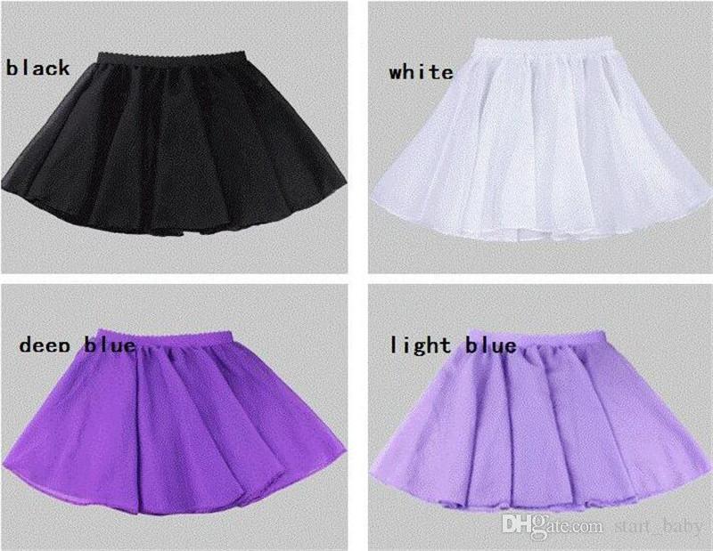Jolies filles dancewear Danse jupe Étudiants vêtements de performance en mousseline de soie Ballet jupe robe pour Élève collège Été Multi couleurs B11
