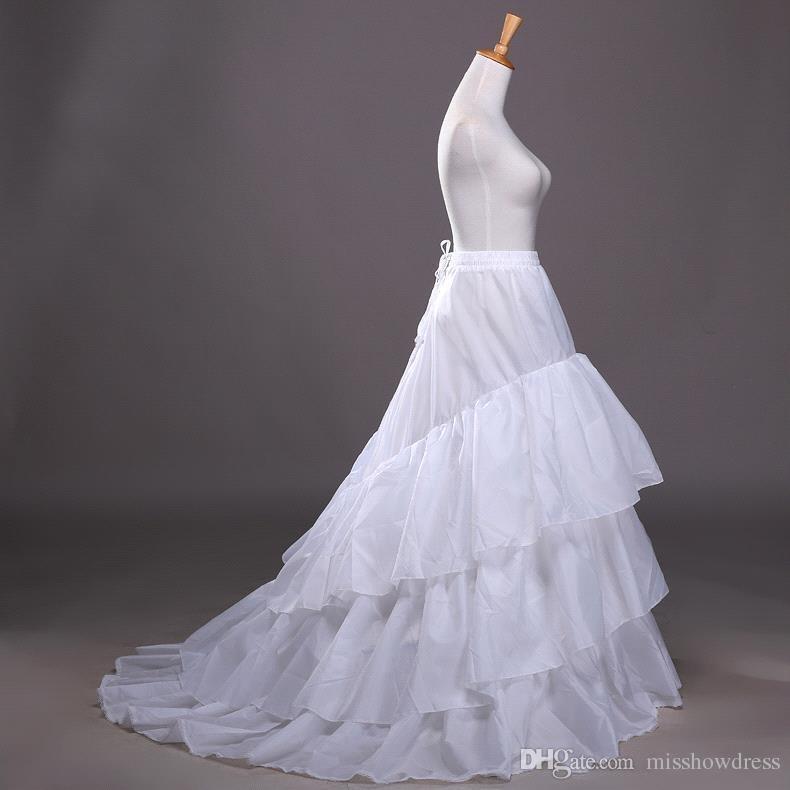 Frete Grátis 10 Estilos Branco A Linha Balll Vestido de Sereia Vestidos de Festa de Casamento Underskirts Anáguas Anáguas Com Hoop Hoopless Crinolina