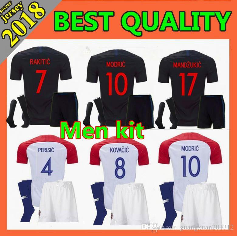 men kit 2018 World Cup Designed for Soccer Jersey MODRIC PERISIC RAKITIC MANDZUKIC SRNA KOVACIC Red KALINIC Hrvatska Football Shirt