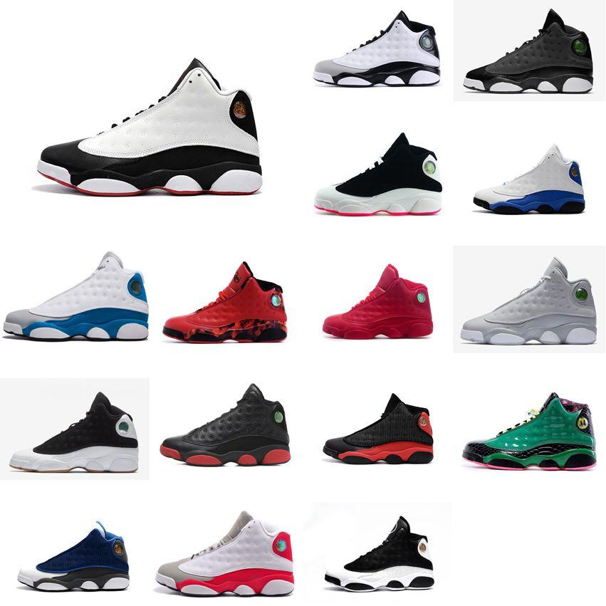 d57a14d544d Cheap Womens Jumpman 13 XIII Basketball Shoes 13s Black White Red ...