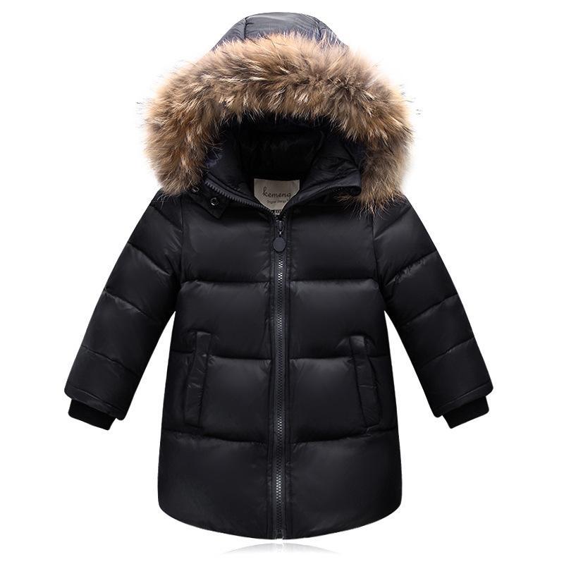 b26d989836f1 Winter Kids Coat Children Jackets Girls Long Parkas Winter Outerwear ...