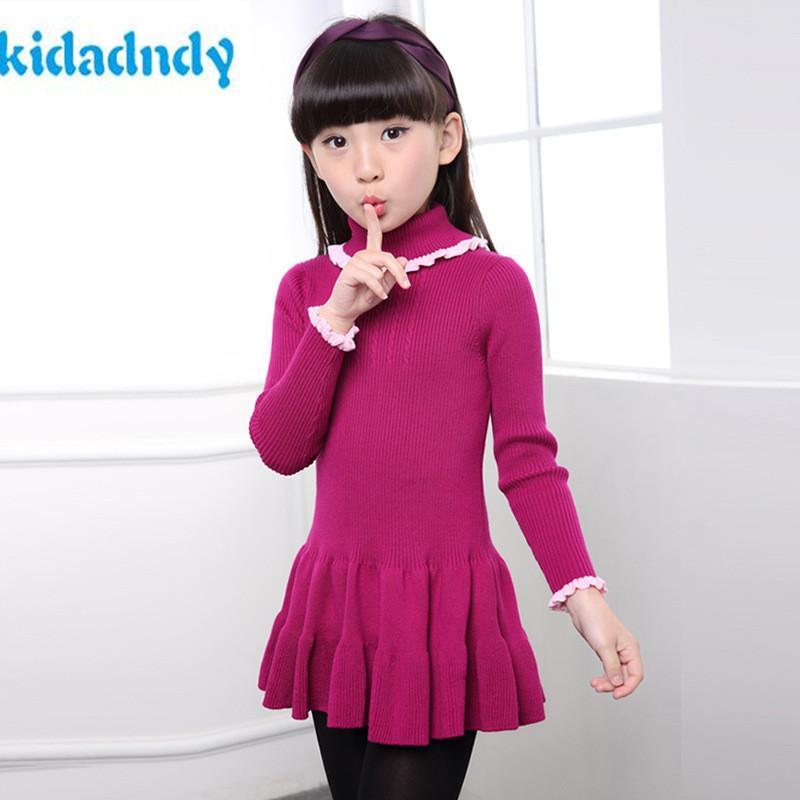 купить оптом Kidadndy детский свитер осенние зимние девушки