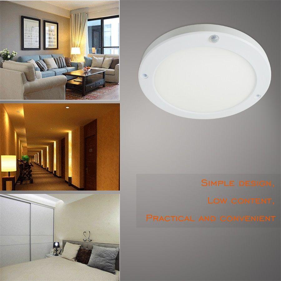 Newest PIR Led Sensor Downlight 18W Super bright led panel light Infrared Detector Motion Switch Round Flush Mount Light