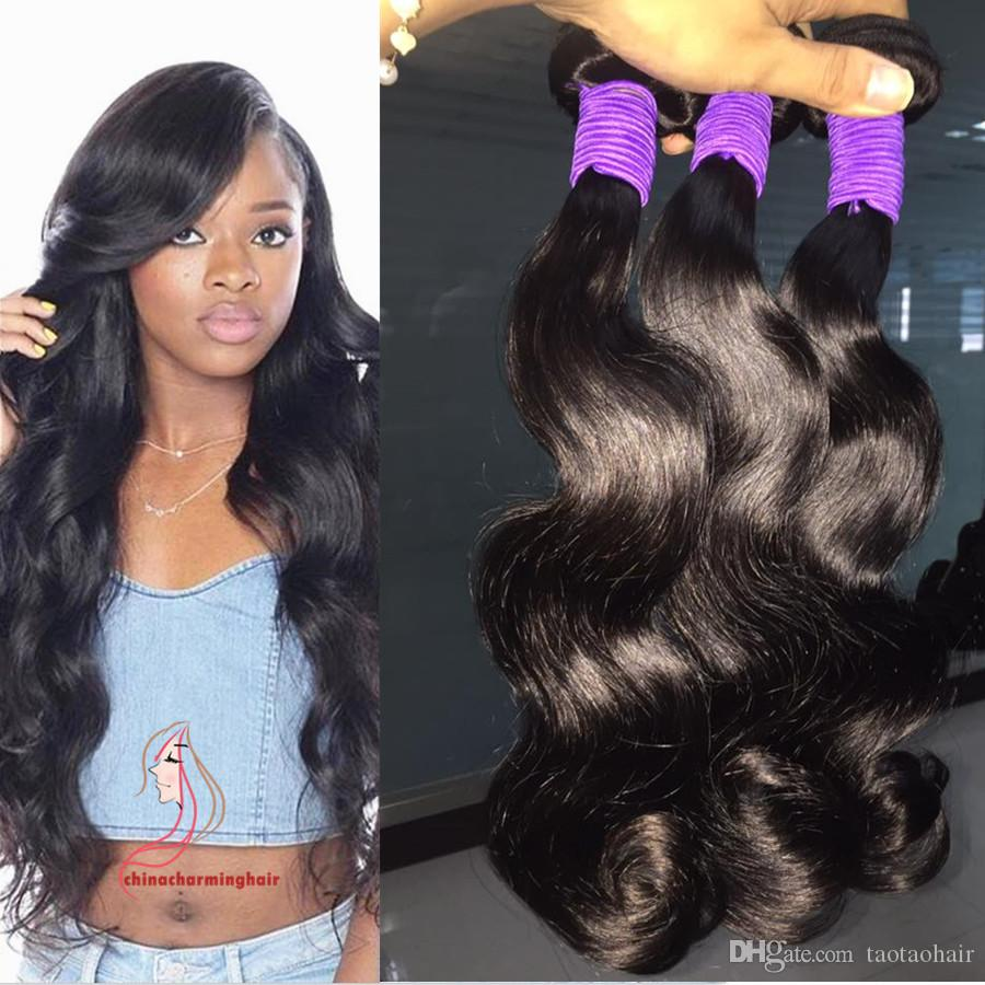 10a Brazilian Hair Extensions Dyeable Natural Color Peruvian