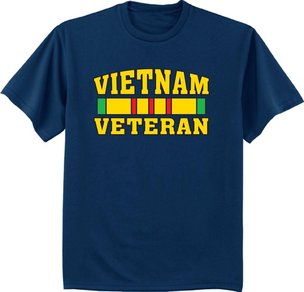 Details Zu Men S T Shirt Vietnam Veteran Shirt Army Navy Marines Air
