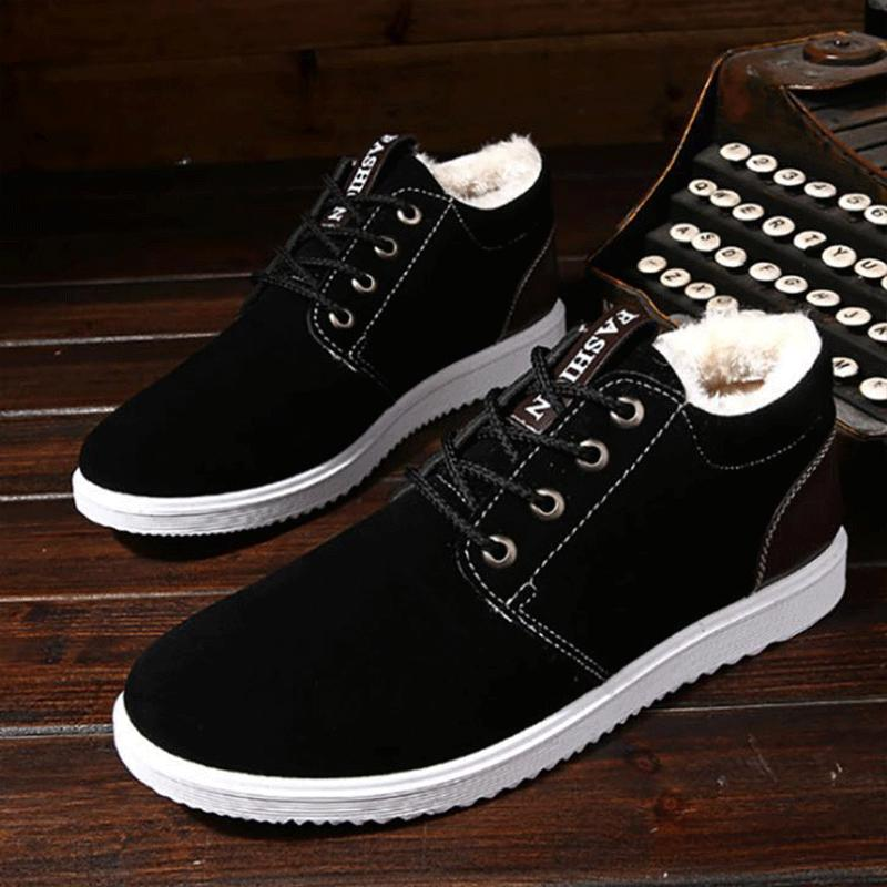 9230ce5cf 2018 New Young Fashion Comfortable Oxfords Shoes Fur Warm Anti-skid ...