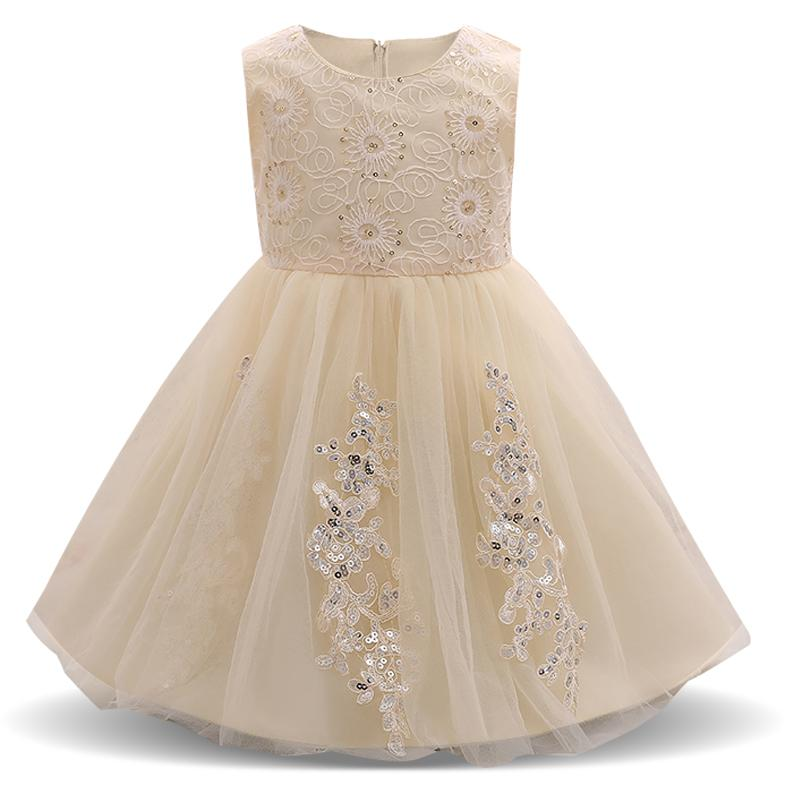 2018 Fancy Baby Girl Party Prom Dress Infant Christening Gown Dress ...