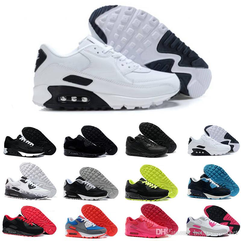 e49cb5600 Compre Nike Air Max 90 Airmax Hombres Zapatillas Zapatos Classic 90 Hombres  Y Mujeres Zapatillas Deportivas Entrenador Deportivo Cojín 90 Superficie ...