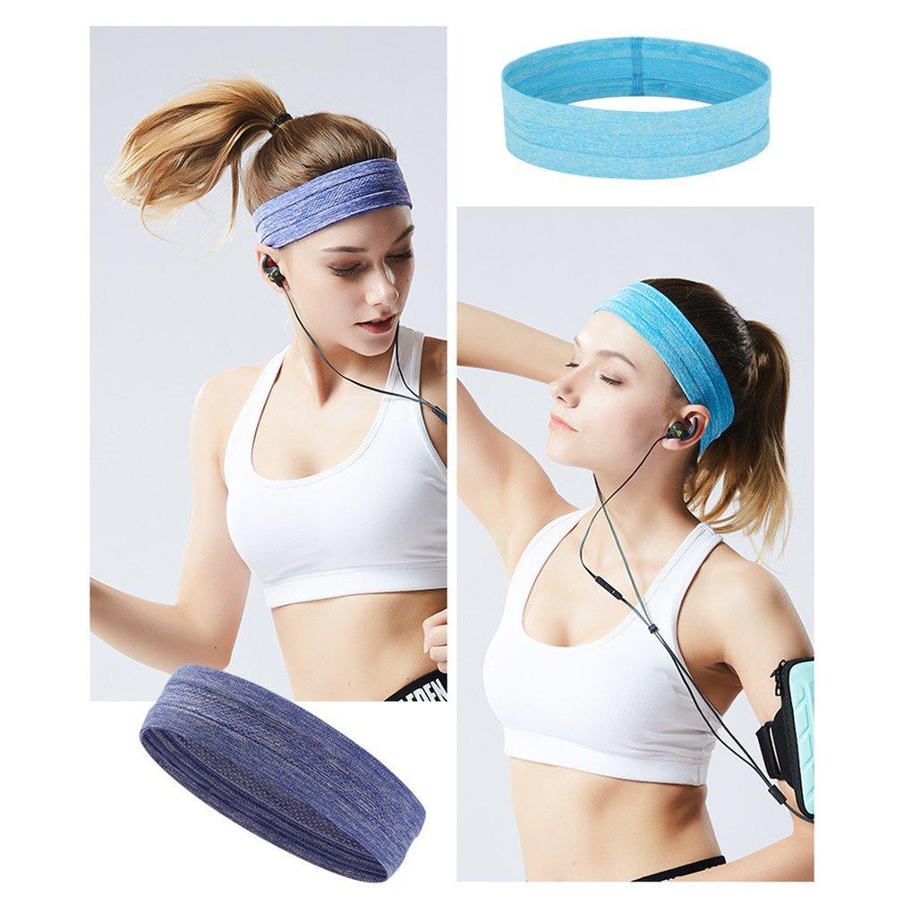 a6bf9f7ff70cd Großhandel Modische Frauen Sport Yoga Haarband Stirnband Trendy Solid Color  Damen Elastische Yoga Sport Lauf Stirnband Dropshipping Von Duriang