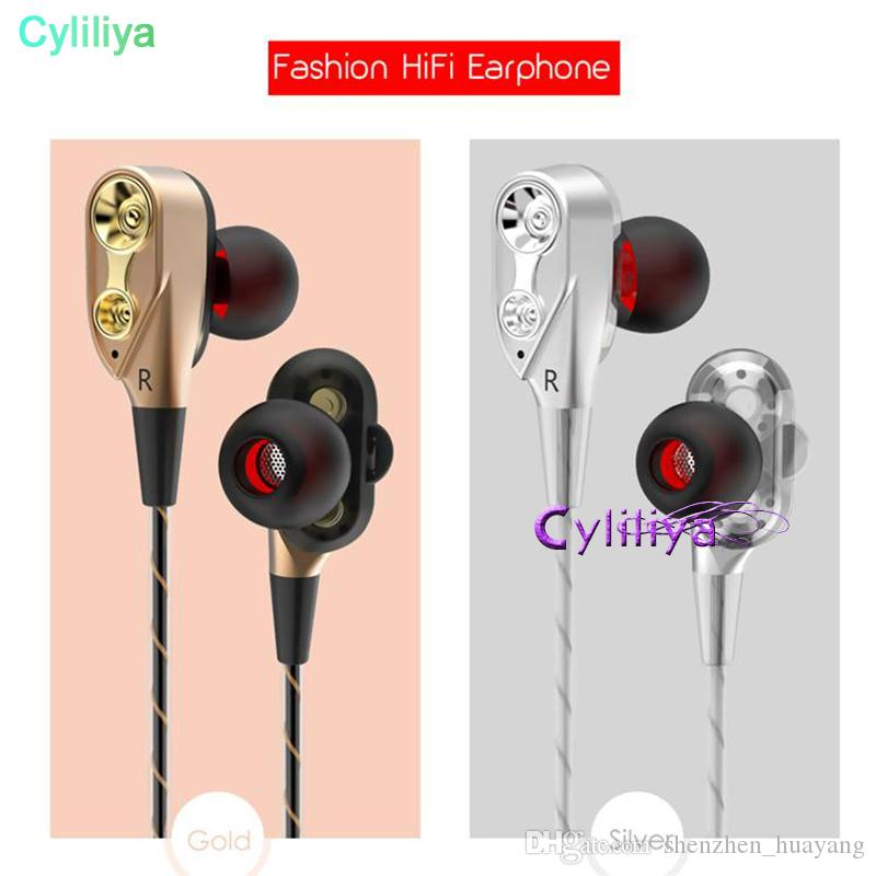 224a8288f41 Double Unit Drivers Headphones In Ear Earphone Bass Subwoofer Stereo ...