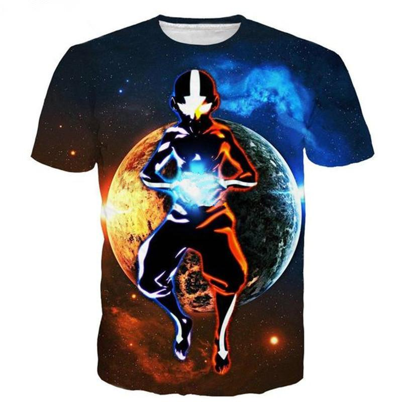 Cartoon Anime Avatar The Last Airbender Women Men New Fashion Summer Unisex Funny 3d Print Crewneck Casual T Shirt Tops Tee Q151