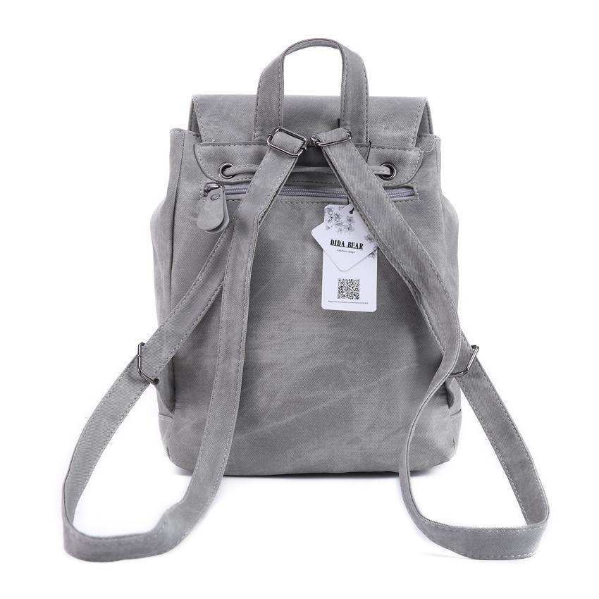 4457b06ba867 DIDA BEAR Brand Women Leather Backpacks School Bag for Teenage Girls ...