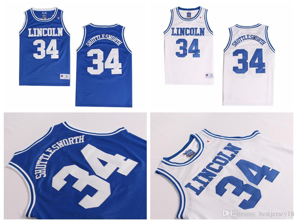2019 Cheap Men S Jesus Lincoln  34 SHUTTLESWORTH He Got Game Movie  Basketball Jersey Blue White Stitched Basketball Jerseys Size S XXL From  Bestjersey18 b74ff027a