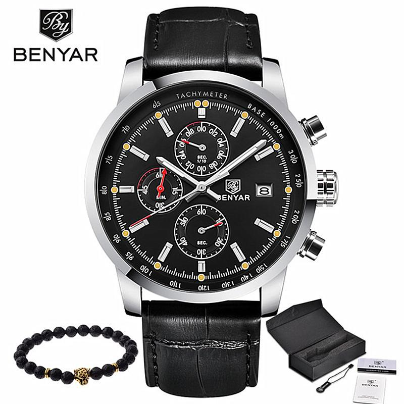 53f98ad034a BENYAR Fashion Casual Mens Watches Luxury Brand Leather Business Quartz  Watch Men Waterproof Wristwatch Relogio Masculino Online Shopping Clothes  Waterproof ...