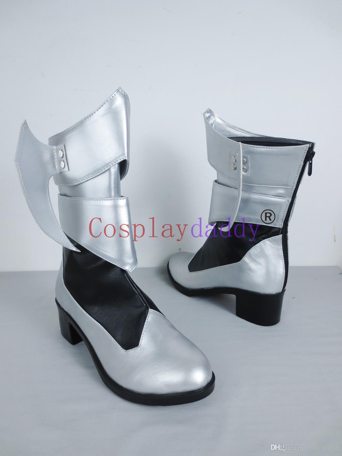Kingdom Hearts Geburt durch den Schlaf Aqua Long Cosplay Schuhe Stiefel C006